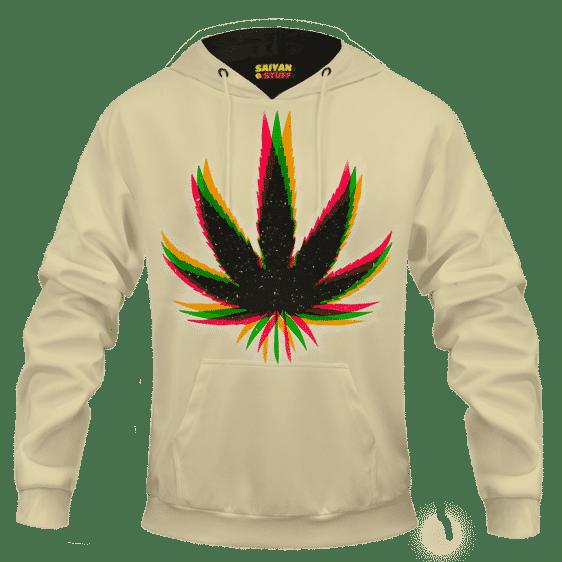 Marijuana Weed Trippy Colors Cool Awesome Hoodie