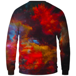 Marilyn Monroe Smoking Weed Amazing Rainbow Art Crewneck Sweatshirt - Back Mockup