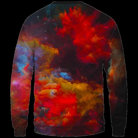 Marilyn Monroe Smoking Weed Amazing Rainbow Art Crewneck Sweatshirt - Back Mockup