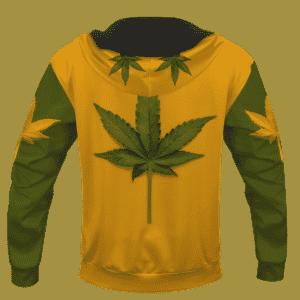 Minimalist Real Cool Marijuana Leaf Awesome 420 Hoodie