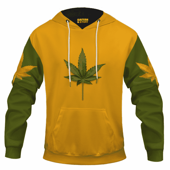 Minimalist Real Cool Marijuana Leaf Awesome 420 Hoodie