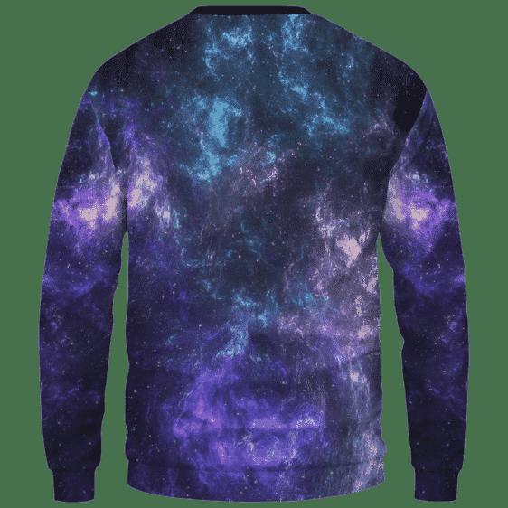 Mona Lisa Collage Smoking Joint Galaxy 420 Trippy Sweatshirt - Back Mockup