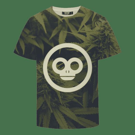 Green Monkey Marijuana Plant Minimalist Awesome T-shirt