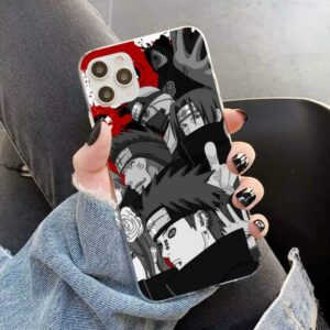 Naruto Akatsuki Members Bloody Monochrome iPhone 12 Cover