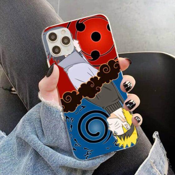 Naruto Eight Trigrams Seal & Sasuke Sharingan iPhone 12 Case