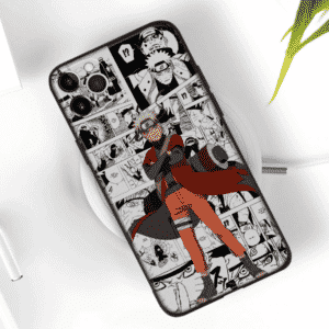 Naruto Sage Mode Monochrome Manga Clip Images iPhone 12 Case