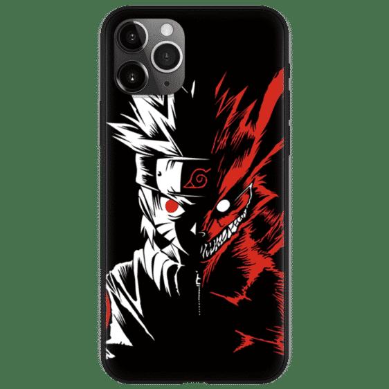 Naruto Two-Face Kurama Evil Look Dope Black iPhone 12 Case