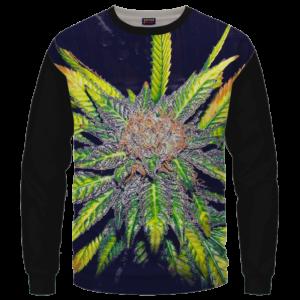 Purple Haze Dope Marijuana Black Awesome Crewneck Sweatshirt