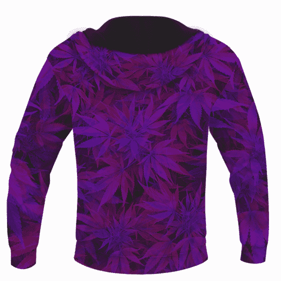 Purple Haze Trippy Marijuana Hemp 420 Pullover Hoodie