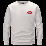 Red Lips Rolling Smoking a Marijuana Joint 420 Crewneck Sweatshirt