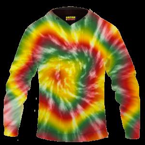 Reggae Inspired Tie Dye For The Stoners Dope Hoodie