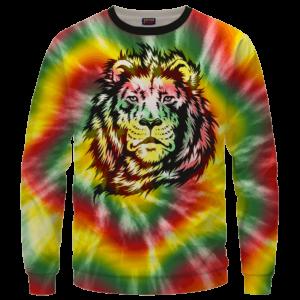 Reggae Inspired Tie Dye For The Stoners Dope Sweatshirt