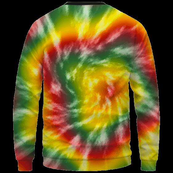 Reggae Inspired Tie Dye For The Stoners Dope Sweatshirt - Back Mockup