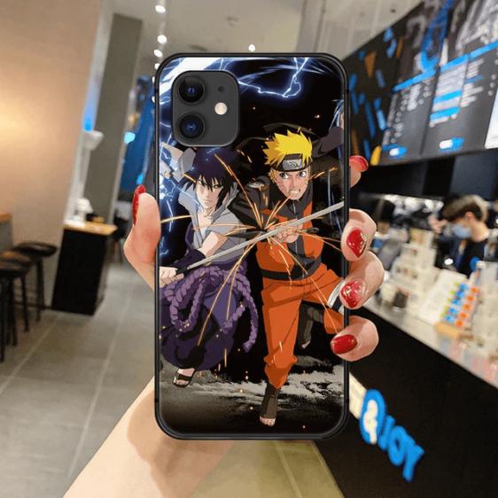 Sasuke Uchiha & Naruto Uzumaki Rivalry iPhone 12 Case