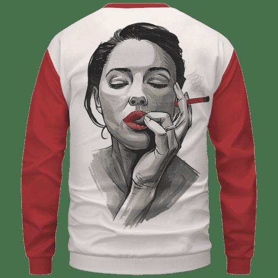 Sexiest Way To Roll A Cannabis Marijuana Blunt Sweatshirt - Back Mockup