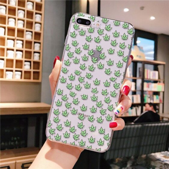 Smiley Cannabis Leaves iPhone 12 (Mini, Pro & Pro Max) Case