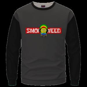 Smoke Weed Reggae Stoner Sponge Bob Marijuana Crewneck Sweater