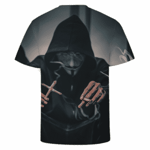 Smoking Joint Marijuana V For Vendetta Mask Dope T-shirt