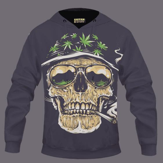 Smoking Joint Skull Marijuana Weed Amazing Dope Hoodie