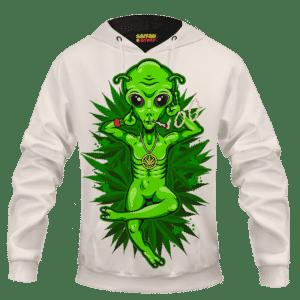 Smoking Marijuana Dope Alien Cool Art Hoodie