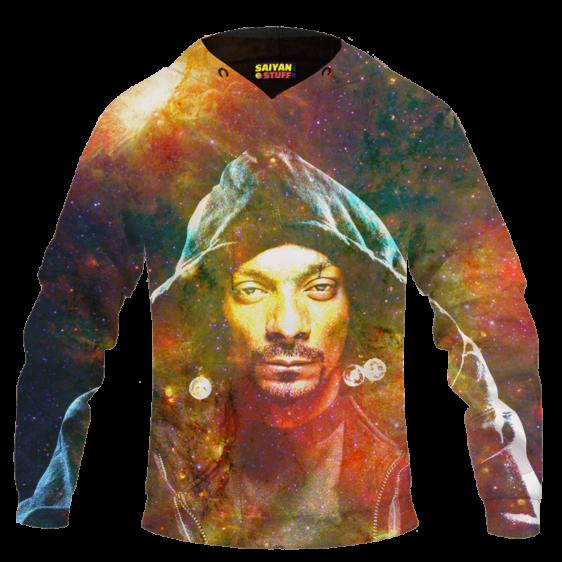 Snoop Dogg Trippy Galactic Stoned Marijuana 420 Cool Hoodie