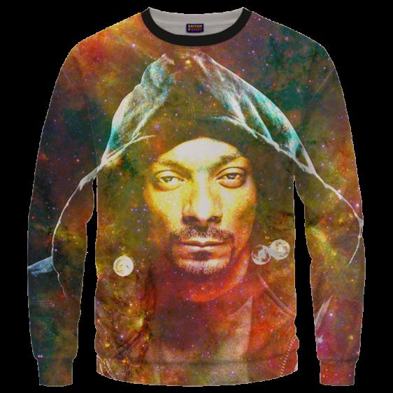 Snoop Dogg Trippy Galactic Stoned Marijuana 420 Cool Sweatshirt