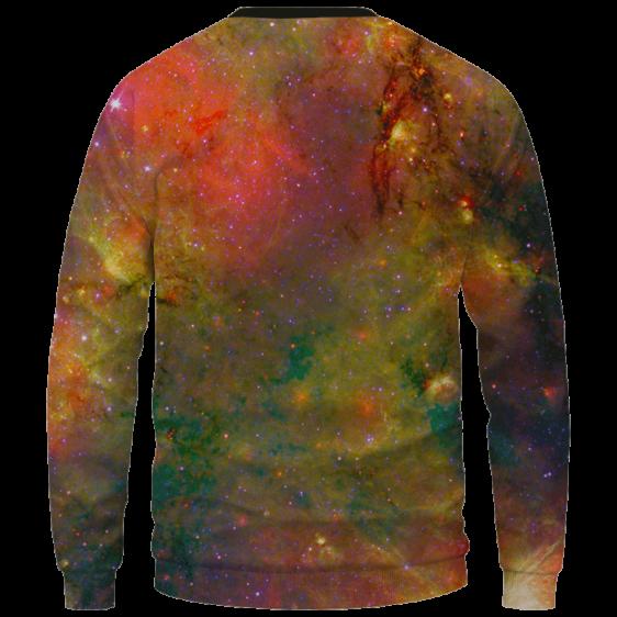 Snoop Dogg Trippy Galactic Stoned Marijuana 420 Cool Sweatshirt - Back Mockup