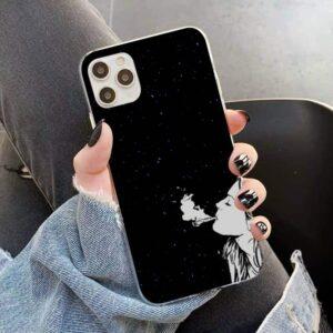 Starry Skies & Smoking Cannabis Dope Black iPhone 12 Case