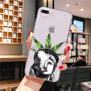 Statue Of Liberty Smokes Weed Crown iPhone 12 Cover