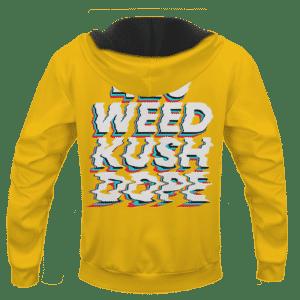 Stoned Girl Smoking Kush Color Splash 420 Marijuana Pull Over Hoodie