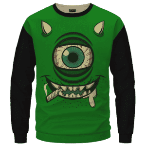 Stoner Mike Monsters Inc Dope Green Black Sweater