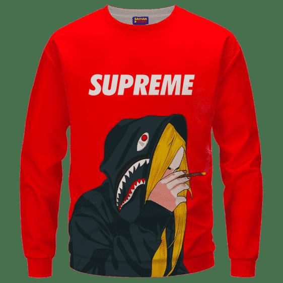 Supreme Billie Eilish Smoking a Joint 420 Marijuana Sweatshirt