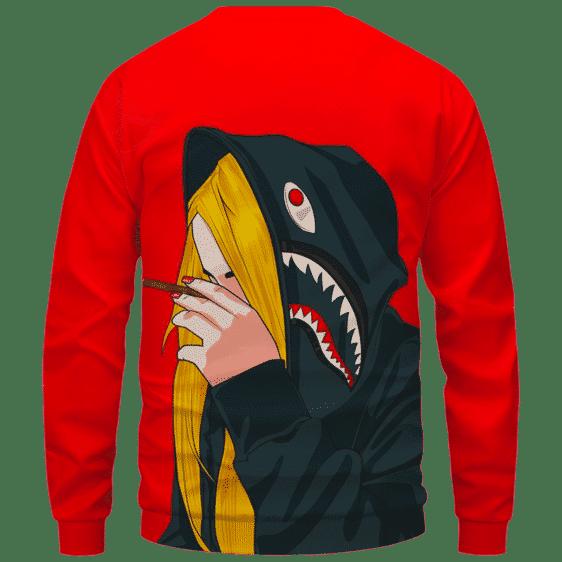 Supreme Billie Eilish Smoking a Joint 420 Marijuana Sweatshirt Back
