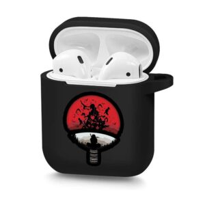 The Uchiha Clan Emblem Itachi Uchiha Black Airpods Case