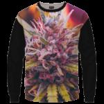 Top Shelf Marijuana Weed 420 Black Crewneck Sweater