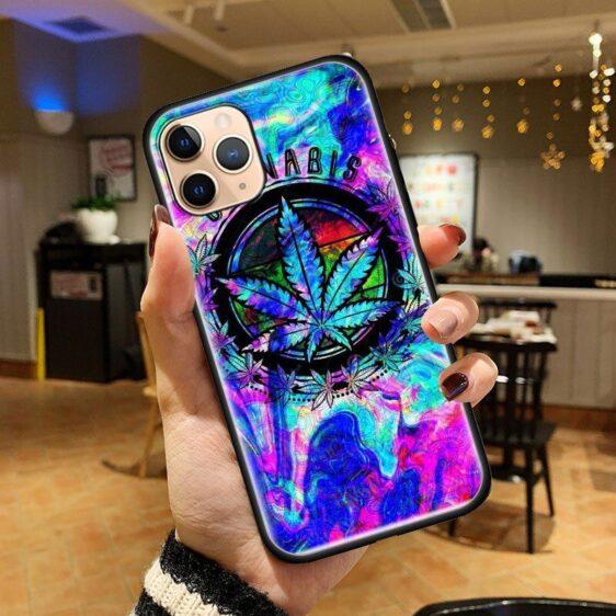 Trippy Colorful Cannabis iPhone 12 (Mini, Pro & Pro Max) Case