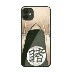 Tsunade's Grass-Green Haori Back Gamble Kanji iPhone 12 Cover
