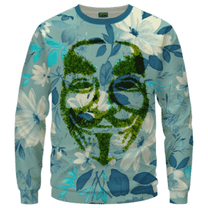 V For Vendetta Grinded Weed Cute Floral Crewneck Sweater