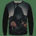 V for Vendetta Mask Cross Joint 420 Marijuana Sweatshirt