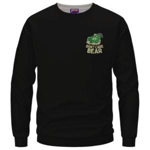 We Don't Care Bear Parody High on Marijuana 420 Crewneck Sweater