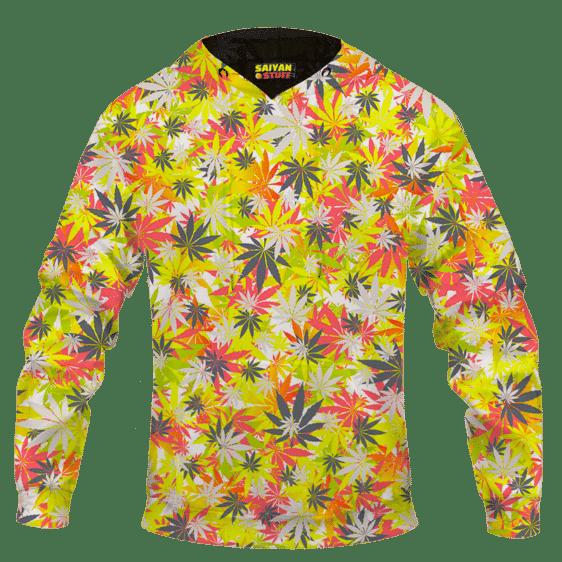 Weed Hemp Marijuana Pattern Colorful All Over Print Hoodie
