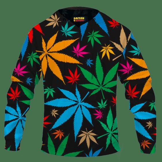 Weed Marijuana Colorful Seamless Pattern Dope Hoodie
