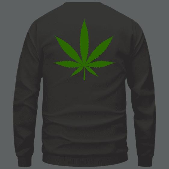 Weed THC Healthcare Dope Vector Marijuana Black Crewneck Sweater Back