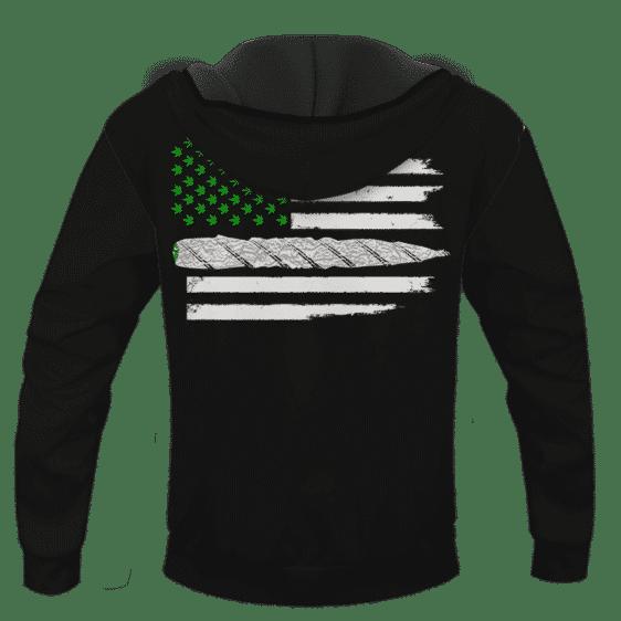 Weed US Flag Joint 420 Marijuana Adult Pullover Hoodie