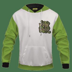 White Keep It Real Cannabis Marijuana Themed Hoodie