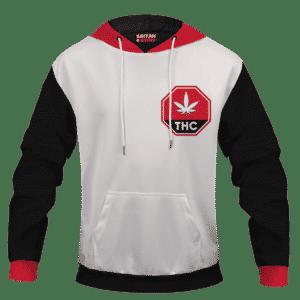 White THC Contaminated Cannabis Marijuana Themed Hoodie