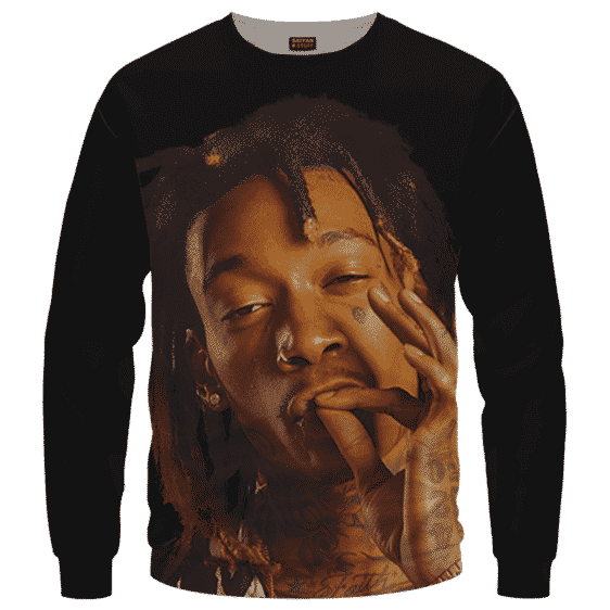 Wiz Khalifa Smoke The Weed Awesome Black Crewneck Sweatshirt