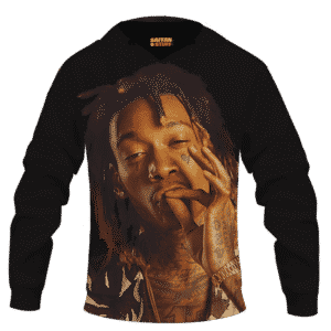 Wiz Khalifa Smoke The Weed Awesome Black Hoodie