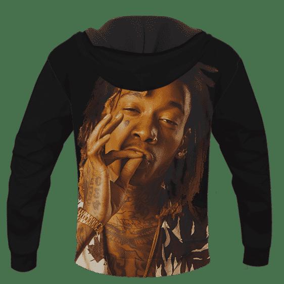 Wiz Khalifa Smoke The Weed Awesome Black Hoodie - BACK