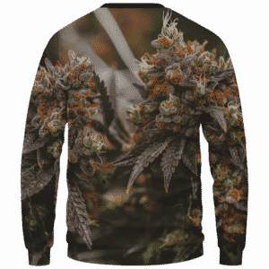 Wonderful Marijuana Kush Nugs All Over Print Sweatshirt - Back Mockup